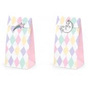 Les sacs à bonbons licorne arc en ciel (x6)