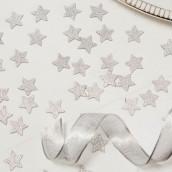 Les confettis de table étoile argent