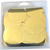 Les confettis ronds géants dorés