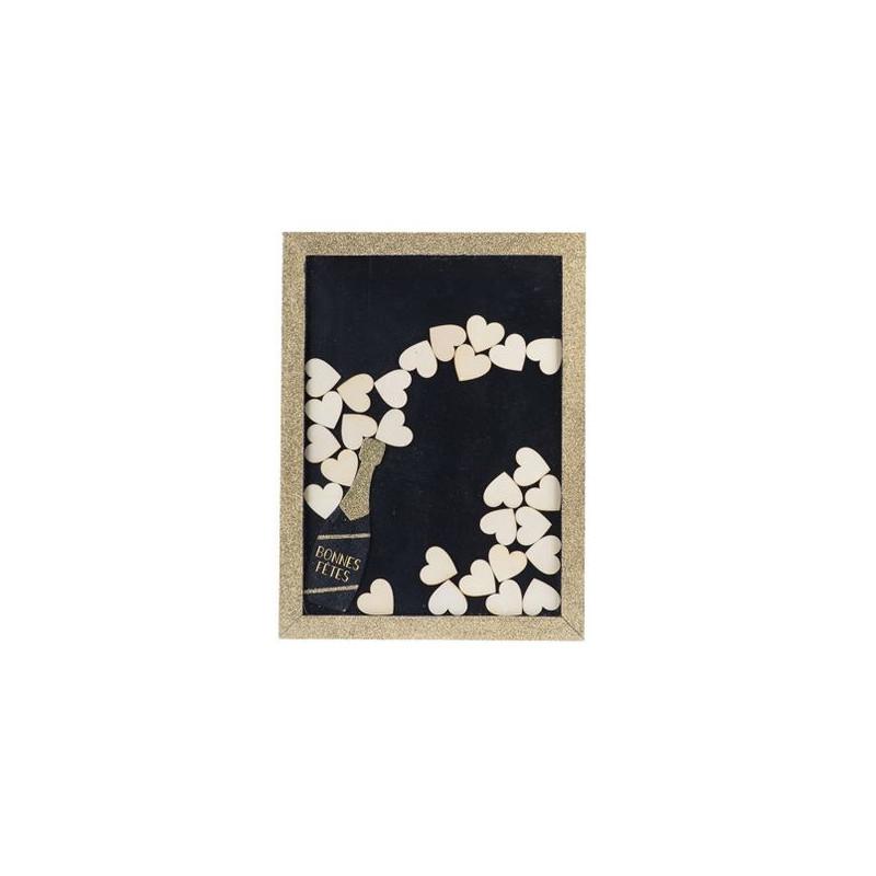 cadre livre d 39 or nouvel an ou noel. Black Bedroom Furniture Sets. Home Design Ideas