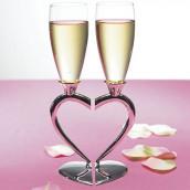 Les 2 flûtes champagne coeur entrelacé vierges