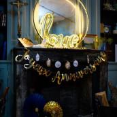 La guirlande joyeux anniversaire or