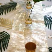 Le chemin de table lin motif palmier
