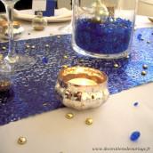 Le photophore en verre ancien doré