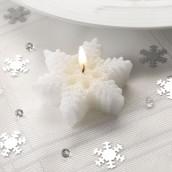 Les 3 bougies flocon de neige
