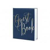 Le livre d'or guestbook bleu nuit et or