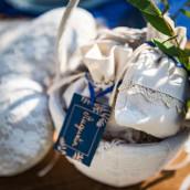 Les 10 étiquettes fougère bleu marine