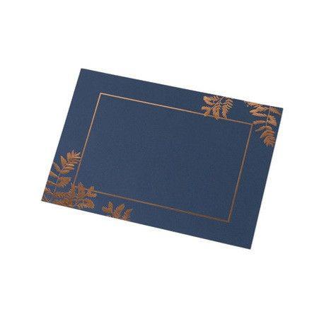 Set De Table Bleu Marine Fougere Deco Mariage Champetre