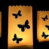 Le 10 sac lanterne lumineux papillon (x10)