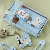 Le porte clé landau bleu