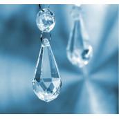 Les 5 pendeloques de faux cristal acrylique