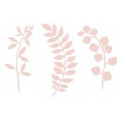 Les feuillages en papier rose