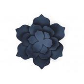 Les fleurs de lotus en papier bleu marine (x3)