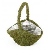 La panier pour confetti en mousse verte