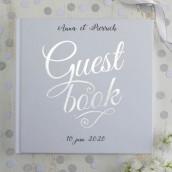 Le livre d'or guestbook argent (personnalisable)