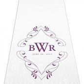 Le tapis d'église personnalisé fleuri