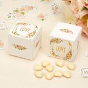 La boite à dragées geo floral ( x10)