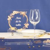 Le porte nom de table champêtre en plexiglas