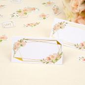 Le carton marque place geo floral (x25)