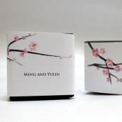 Le sticker fleur de cerisier pour boîte cube