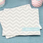 Les 20 serviettes chevron grises
