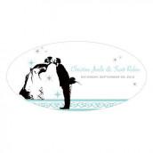 Le sticker personnalisé pour voiture mariés  - 5 coloris