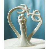 La figurine de gateau mariage stylisé tropique
