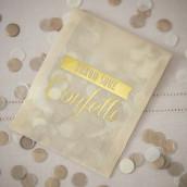 Le sachet à confettis dorés