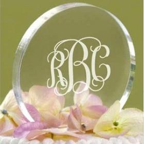 La figurine de mariage circulaire en plexiglas