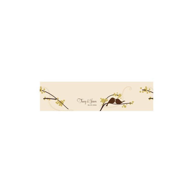 sticker personnalis boite dragees cube oiseaux. Black Bedroom Furniture Sets. Home Design Ideas