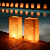 Les 10 sachets lanternes motif soleil