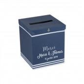 L'urne de mariage bleu marine ancre (personnalisable)