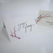 Les 6 cartons chevalets fleur de cerisier