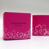 Le sticker personnalisé romantique pour boite cube