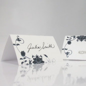 Les 6 cartons chevalets floral orchestra