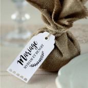 Le tampon personnalisé pour étiquette couronne champêtre