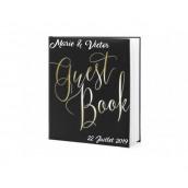 Le livre d'or guestbook noir et or (personnalisable)