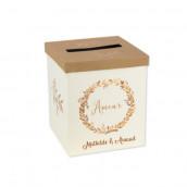 L'urne de mariage ivoire et bronze (personnalisable)
