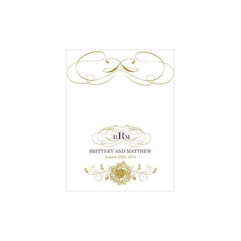 Carton marque place mariage baroque - Marque place baroque ...