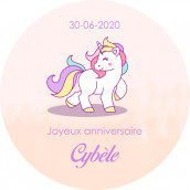 Les 24 stickers personnalisés licorne
