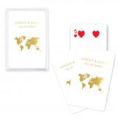 Le jeu de cartes personnalisées voyage