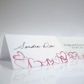 Les 6 cartons chevalets romantiques