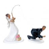 La figurine de mariage couple à la pêche