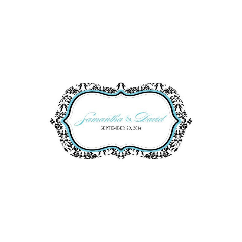 Sticker g ant voiture mariage damas for Stickers exterieur personnalise