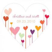 Le sticker coeur coeurs en folie - 2 coloris