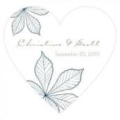 Le sticker coeur en automne - 11 coloris