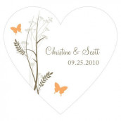 Le sticker coeur champêtre - 9 coloris