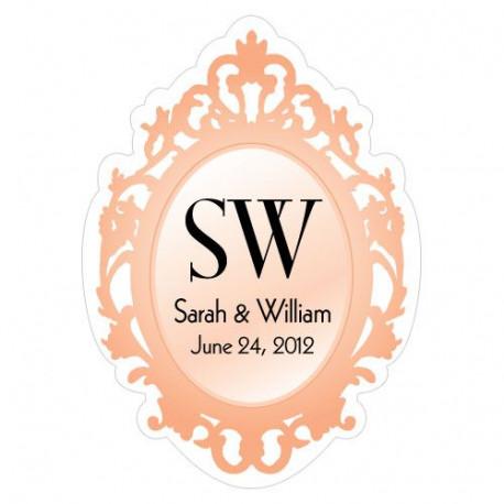 sticker personnalis miroir mariage autocollant boite dragees baroque. Black Bedroom Furniture Sets. Home Design Ideas