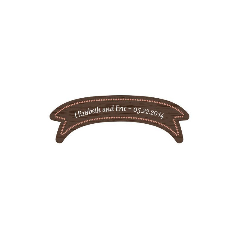 sticker personnalis banderole imitation bois. Black Bedroom Furniture Sets. Home Design Ideas