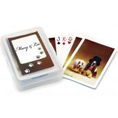 Le jeu de cartes personnalisé couple de chiens